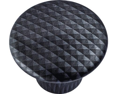 Bouton de meuble en plastique aspect carbone Ø32mm, 1pièce-0