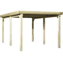 Carport simple weka 617 taille 1 sans couverture de toiture 322x512cm traité en autoclave par imprégnation-thumb-1