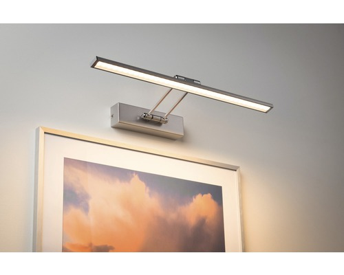 Éclairage pour tableaux LED 1x7W 685 lm 2700 K blanc chaud Beam Fifty nickel/brossé l 450 mm