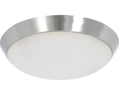 Kit d''éclairage LED Lucci chrome mat avec cache blanc mat 15W 1000 lm 3000 K blanc chaud