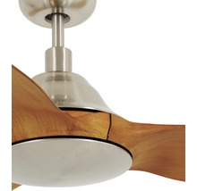 Ventilateur de plafond chrome brossé aspect teck Airfusion Type A BC Ø 154 cm avec télécommande-thumb-2