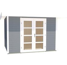 Abri de jardin Designhaus 126+ weka taille 1 dimension de passage élevée 195 cm, avec plancher 295 x 210 cm gris-thumb-1