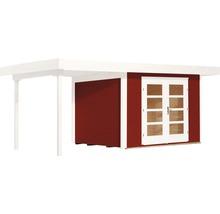 Abri de jardin Designhaus 126 A+ weka taille 1 dimension de passage élevée 195 cm, avec plancher et toit en appentis 442 x 240 cm rouge-thumb-1