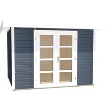Abri de jardin Designhaus 126+ weka taille 2 dimension de passage élevée 195 cm, avec plancher 295 x 240 cm anthracite-thumb-1