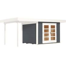 Abri de jardin Designhaus 126 A+ weka taille 1 dimension de passage élevée 195 cm, avec plancher et toit en appentis 442 x 240 cm anthracite-thumb-1