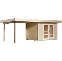 Abri de jardin Designhaus 126 B+ weka taille 2 dimension de passage élevée 195 cm, avec plancher et toit en appentis 590 x 300 cm naturel-thumb-1