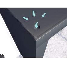 Auvent rectangulaire Gutta BS Plus 200x90 cm en anthracite, élément latéral avec boîte aux lettres gauche compris-thumb-1