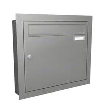 Auvent rectangulaire Gutta BS Plus 200x90 cm en anthracite , élément latéral avec boîte aux lettres en acier inoxydable droite compris-thumb-4