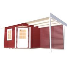 Abri de jardin Designhaus 213 A+ weka taille 2 dimension de passage élevée 195 cm, avec plancher et toit en appentis 442 x 295 cm rouge-thumb-1