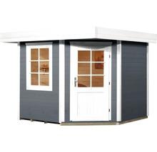 Abri de jardin Designhaus 213+ weka taille 2 dimension de passage élevée 195 cm, avec plancher 298 x 298 cm anthracite-thumb-1