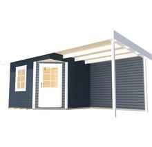 Abri de jardin Designhaus 213 A+ weka taille 2 dimension de passage élevée 195 cm, avec plancher et toit en appentis 442 x 295 cm anthracite-thumb-1