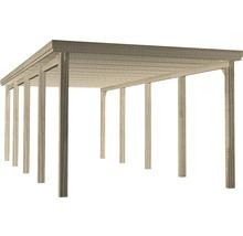Carport simple weka 617 taille 3 avec toiture en plastique 322x802cm traité en autoclave par imprégnation-thumb-0