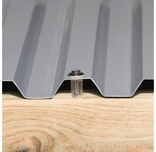 Carport simple weka 617 taille 3 avec toiture en plastique 322x802cm traité en autoclave par imprégnation-thumb-1