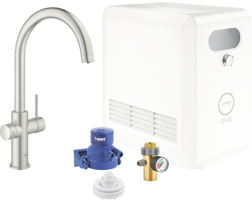 Mitigeur pour évier GROHE Grohe Blue Professional 31323DC2 supersteel