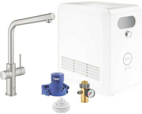 Mitigeur pour évier GROHE Grohe Blue Professional 31347DC3 supersteel