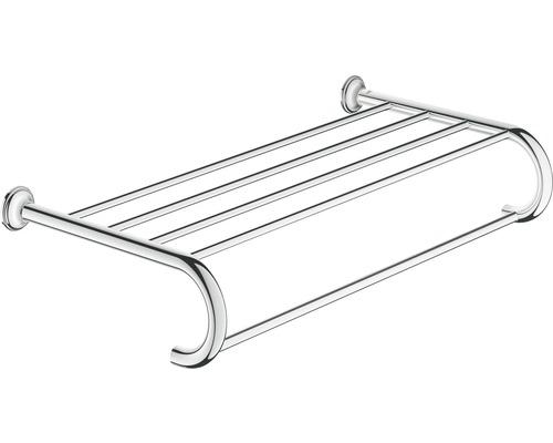 Badetuchhalter GROHE Essential Authentic mit Ablage 58,6 cm chrom 40660001