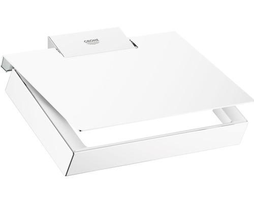 Dérouleur papier toilette GROHE Selection Cube avec couvercle chrome 40781000