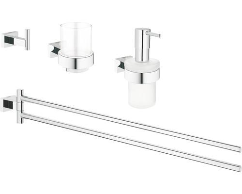 Ensemble pour salle de bains GROHE Essentials Cube 4 en 1 chrome 40847001