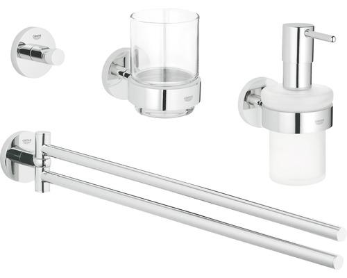 Ensemble pour salle de bains GROHE Essentials Master 4 en 1 chrome 40846001
