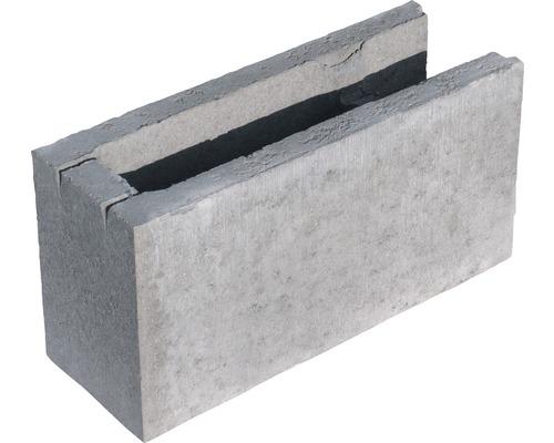 Bloc à bancher finition gris 50x25x17,5cm