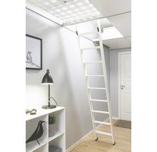 Escalier pour lit surélevé blanc apprêté 2 parties Dolle avec 10 marches-thumb-3