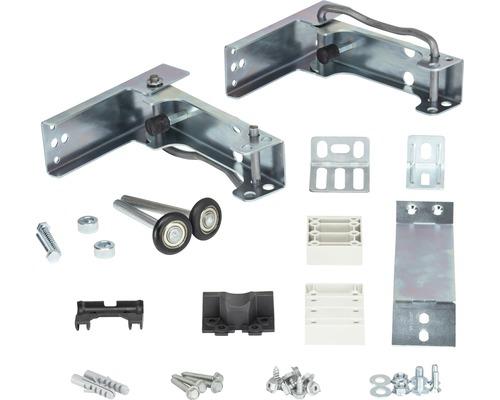 Set de 2 supports-galets rabattables pour largeurs de porte jusqu'à 3 m