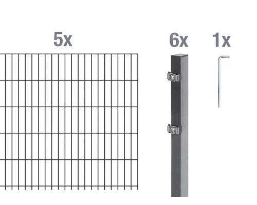 Jeu de panneaux rigides double fil 6/5/6 1000x100cm anthracite