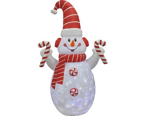 Figurine lumineuse LED gonflable Lafiora Bonhomme de neige H 210 cm