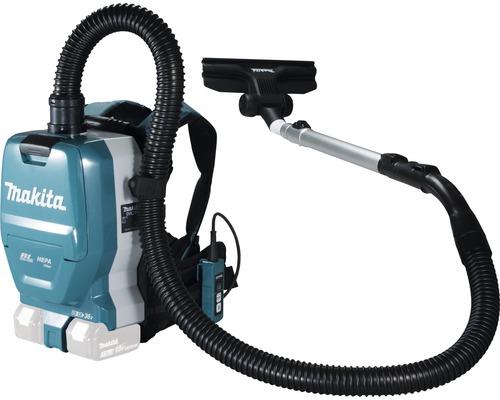 Aspirateur pour sac à dos manuel sans fil Makita DVC261ZX15 2x18V, sans batterie ni chargeur avec 2buses et filtre