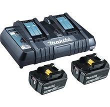Starter Set Makita DC18RD Power Source Kit Li 18V, 2x 5,0 Ah Akkus + Ladegerät-thumb-0