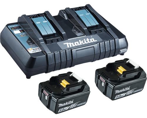 Kit de démarrage Makita DC18RC Power Source Kit Li 18V, 2x 5,0Ah batteries + chargeur