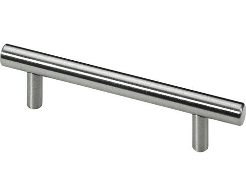 Poignée de meuble finition acier 150 mm distance entre les trous 96 mm 6 pièces-0
