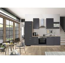 Küchenzeile Flex Well Tiago 280 cm Basaltgrau/San Remo Eiche hell 00011841-thumb-0
