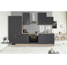 Cuisine complète Flex Well Tiago 310 cm gris basalte/chêne San Remo clair 00011845-thumb-0