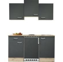 Kitchenette Flex Well Morena 150 cm gris basalte/San Remo chêne clair-thumb-2