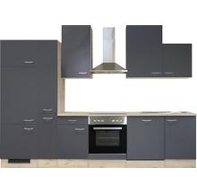 Cuisine complète Flex Well Tiago 310 cm gris basalte/chêne San Remo clair 00011845-thumb-8