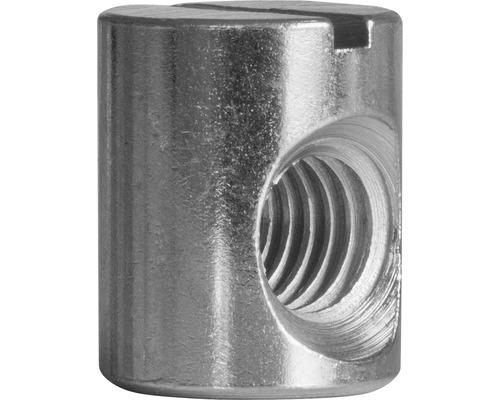 Ecrou rond 10x12.5x7.5 mm galvanisé 100 unités