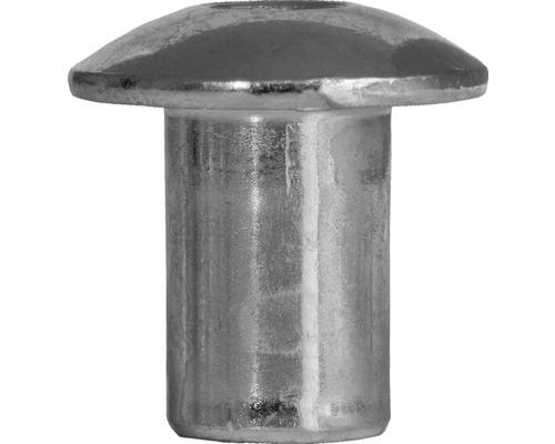 Ecrou à manchon M6 tête goutte de suif galvanisé 100 unités