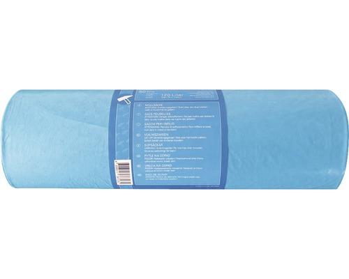 Sac poubelle bleu 120 l, pack de 50