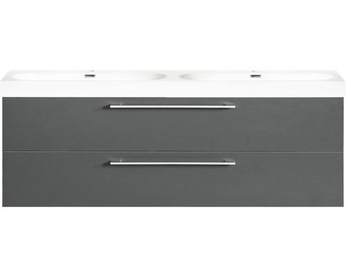 Ensemble de meubles de salle de bains Somero anthracite 120x57cm-0
