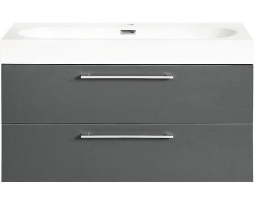 Ensemble de meubles de salle de bains Somero anthracite 80x57cm