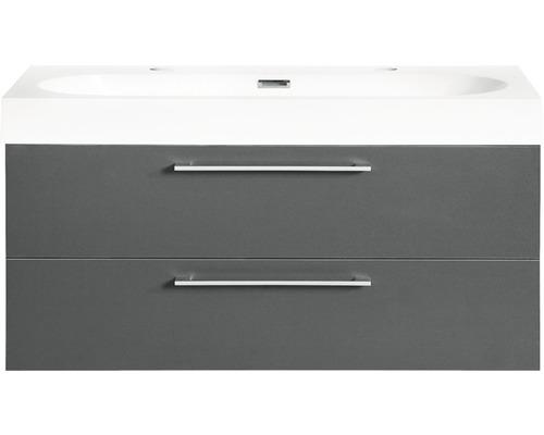 Ensemble de meubles de salle de bains Somero anthracite 100x57cm