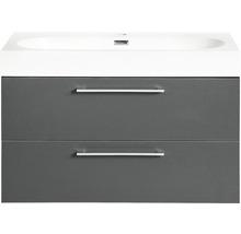 Ensemble de meubles de salle de bains Somero anthracite 60x57cm-thumb-0