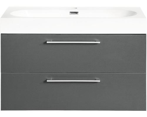Ensemble de meubles de salle de bains Somero anthracite 60x57cm-0