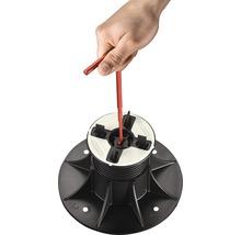 Plot de fixation réglable KIT SH2 40-70 mm 4 mm joint 10 pces avec 5 boutons bloqueurs-thumb-1