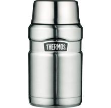 Récipient THERMOS, acier inoxydable dépoli 0,7 l, cuillère intégrée, 9 heures de chaleur, 14 heures de fraîcheur, sans BPA-thumb-0