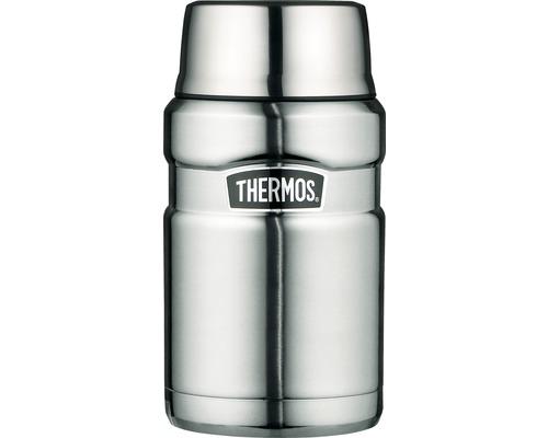 Récipient THERMOS, acier inoxydable dépoli 0,7 l, cuillère intégrée, 9 heures de chaleur, 14 heures de fraîcheur, sans BPA-0