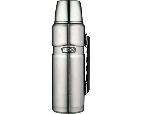 Bouteille isolante THERMOS, acier inoxydable dépoli 1,2 l, fermeture rotative, 12 heures de chaleur, 24 heures de fraîcheur, sans BPA-0