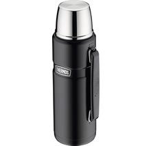 Bouteille isolante THERMOS, acier inoxydable Mat Black 1,2 l, fermeture rotative, 12 heures de chaleur, 24 heures de fraîcheur, sans BPA-thumb-0