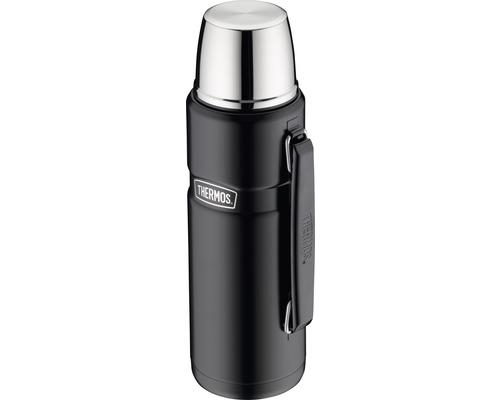 Bouteille isolante THERMOS, acier inoxydable Mat Black 1,2 l, fermeture rotative, 12 heures de chaleur, 24 heures de fraîcheur, sans BPA-0